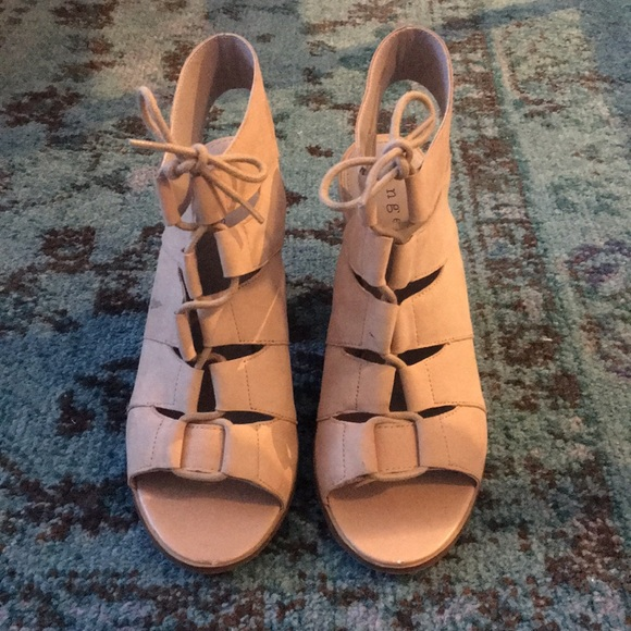 418d16ade4a1 Nordstrom Nude laceup block heel sandal